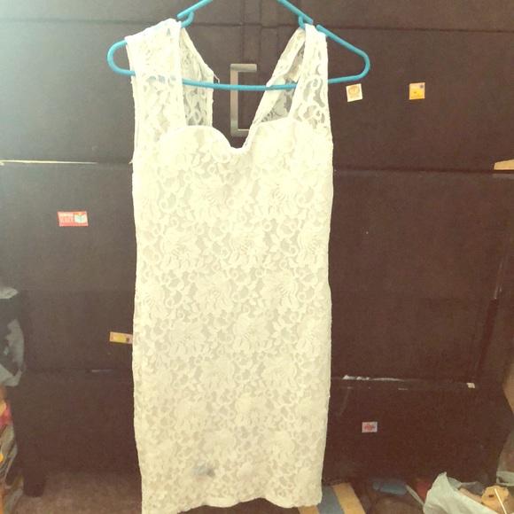 April Spirit Dresses & Skirts - White lace dress